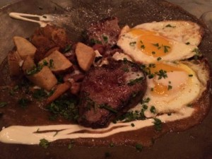 Treehouse Gluten free steak and eggs